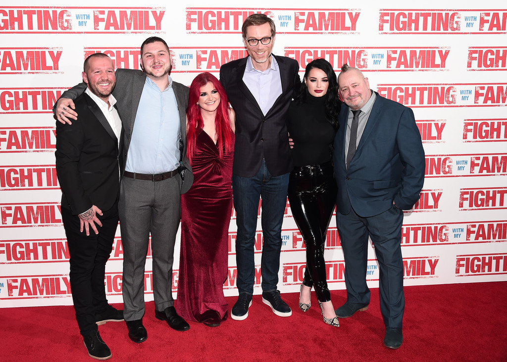 The Knight Family and Stephen Merchant Fighting with my Family UK Premiere London Arrivals