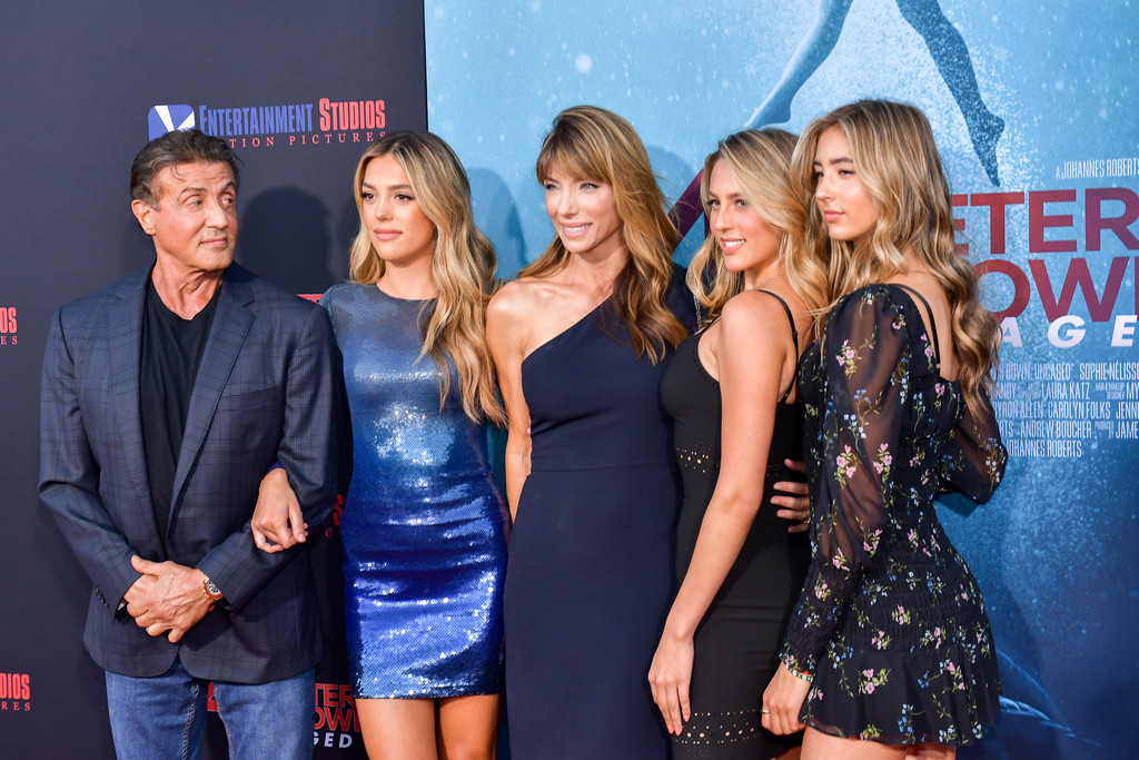 The Stallone family 47 Meters Down Uncaged Los Angeles Premiere