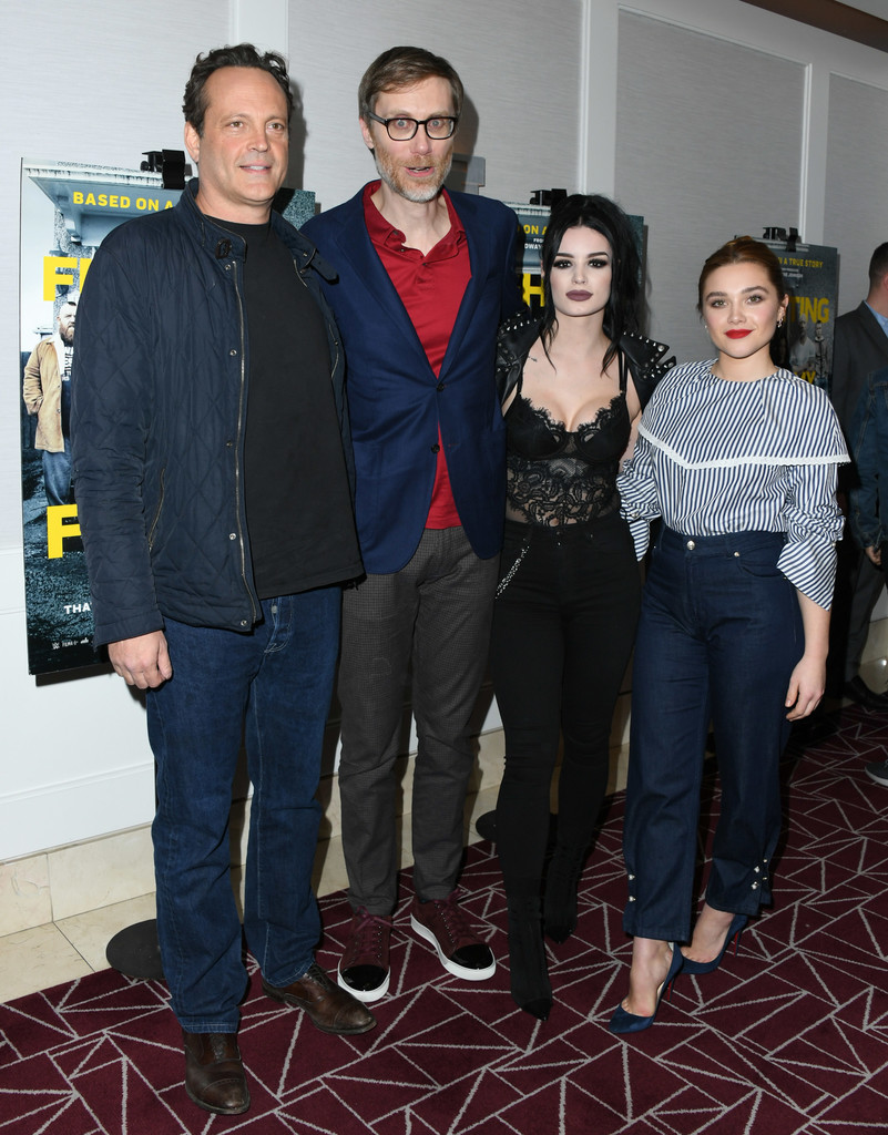 Vince Vaughn, Stephen Merchant, Paige Bevis and Florence Pugh Fighting with My Family Los Angeles Tastemaker Screening
