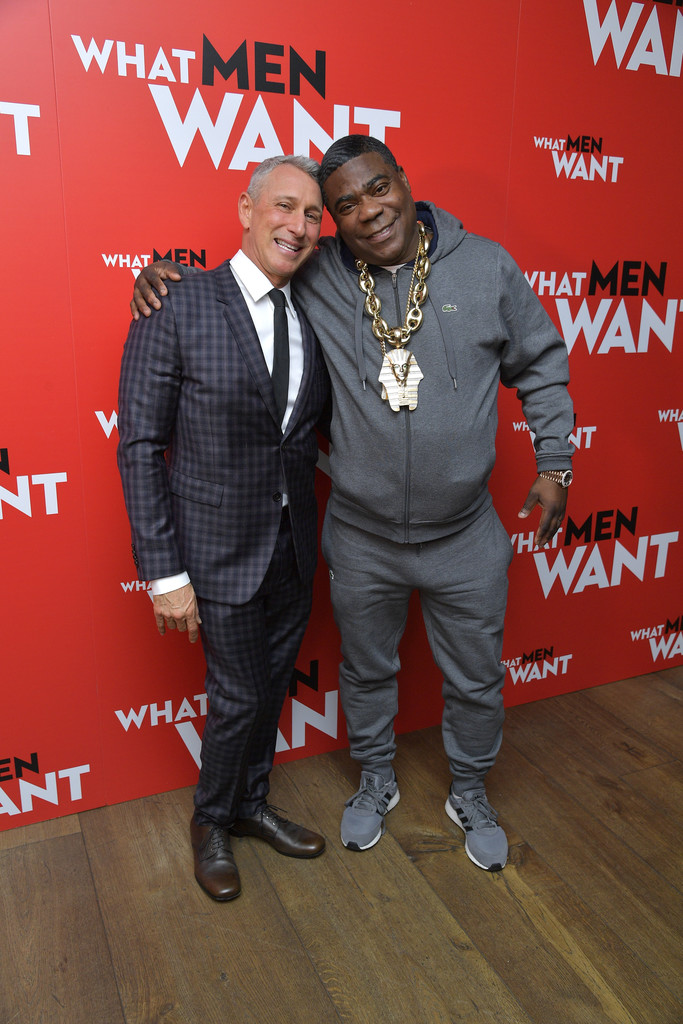 Adam Shankman and Tracy Morgan What Men Want New York City Special Screening Arrivals