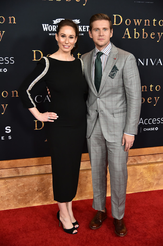 Alan Leech and wife Downton Abbey New York City Premiere