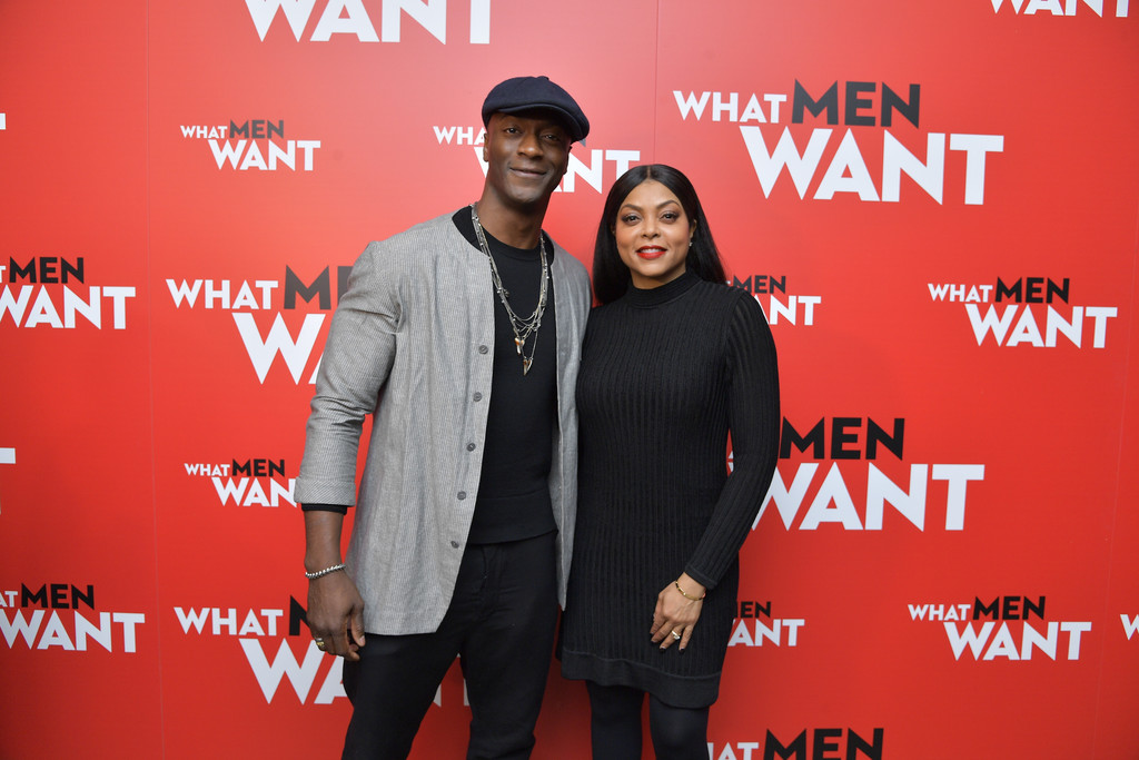 Aldis Hodge and Taraji P Henson What Men Want New York City Special Screening Arrivals