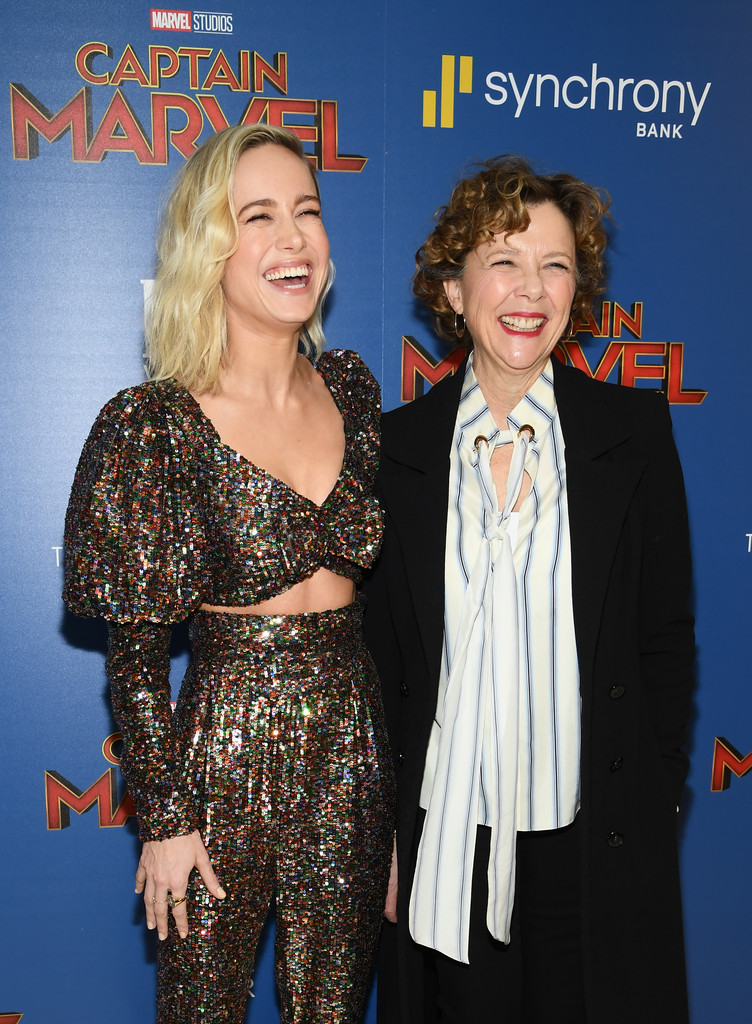 Brie Larson and Annette Bening Captain Marvel New York City Special Screening