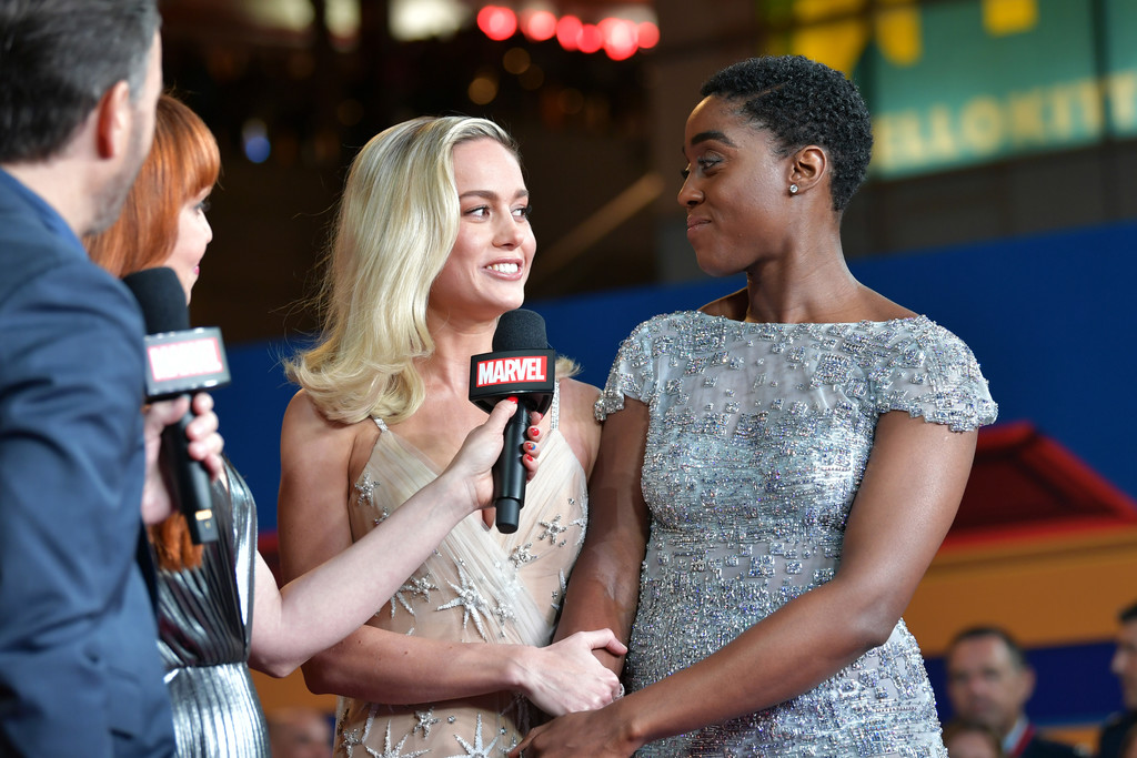 Brie Larson and Lashana Lynch Captain Marvel Hollywood Premiere Los Angeles Arrivals