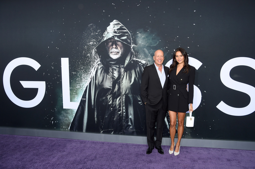 Bruce Willis and Emma Heming Glass New York City Premiere Arrivals