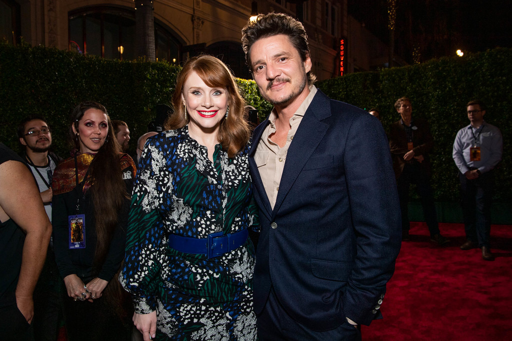 Bryce Dallas Howard and Pedro Pascal The Mandalorian Disney+ World Premiere Hollywood Los Angeles
