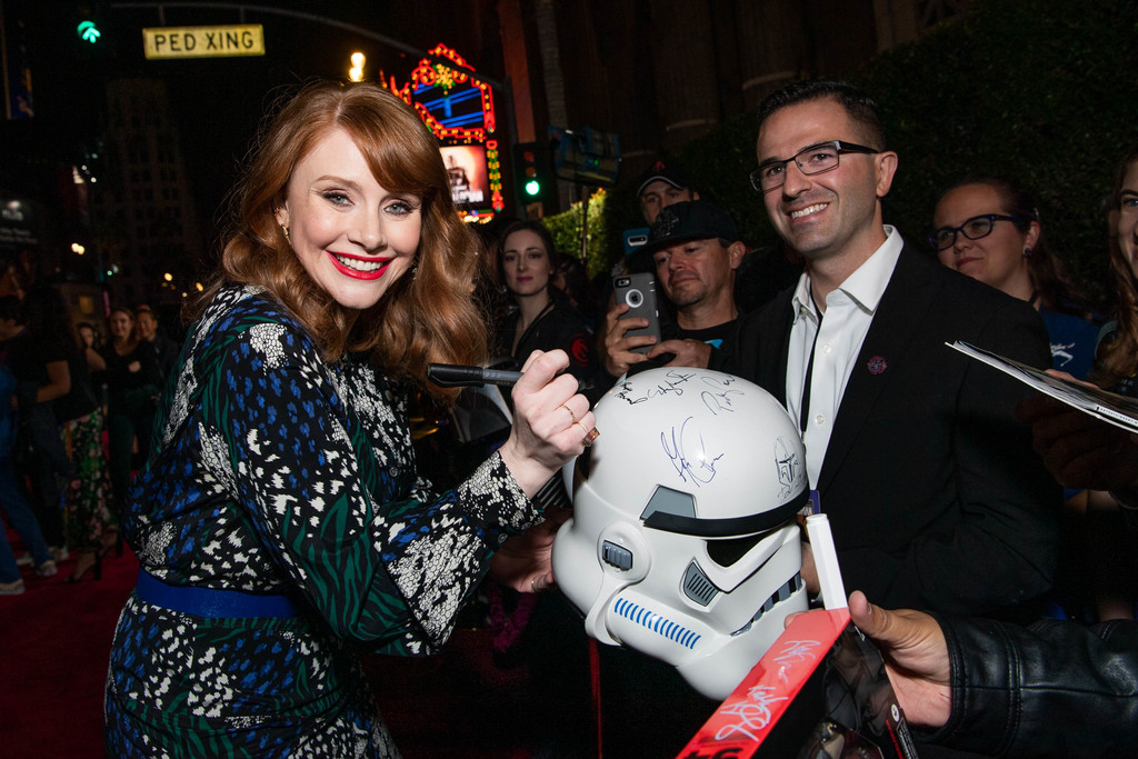 Bryce Dallas Howard greets fans The Mandalorian Disney+ World Premiere Hollywood Los Angeles