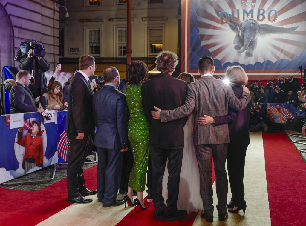 Cast and Director Disney Dumbo European Premiere London