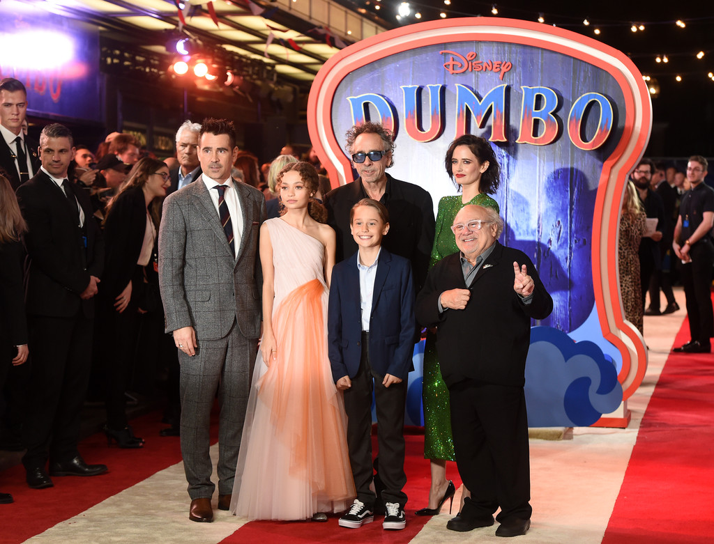 Cast and Director of Disney Dumbo European Premiere London