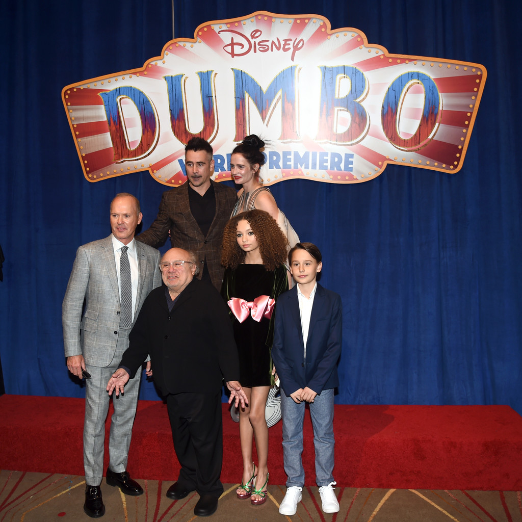 Cast and crew Disney Dumbo Los Angeles Premiere Arrivals