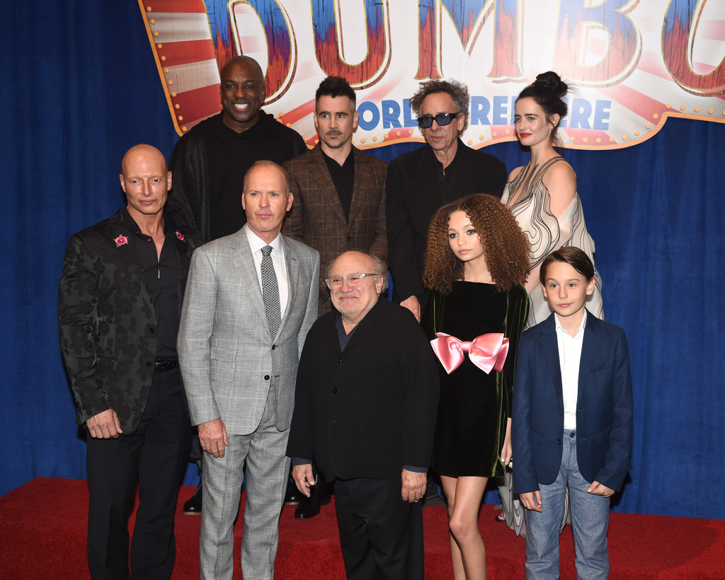 Cast and crew of Disney Dumbo Los Angeles Premiere