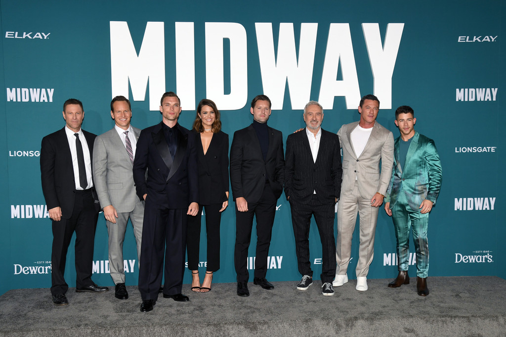 Cast of Midway Hollywood Premiere Los Angeles