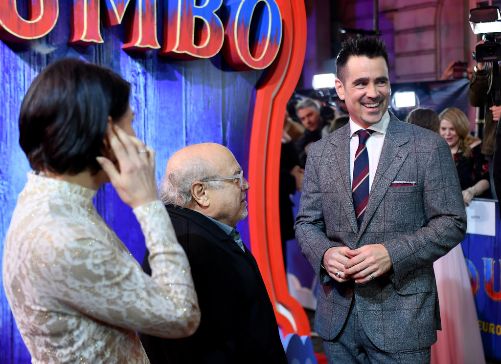 Danny DeVito and Colin Farrell Disney Dumbo European Premiere London