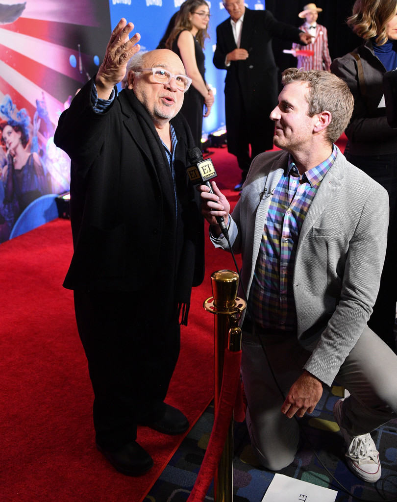Danny DeVito and interviewr Disney Dumbo Canadian Premiere Toronto