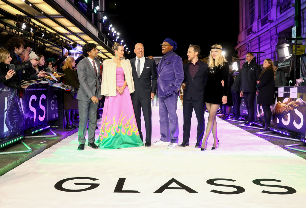 Director and cast of Glass UK Premiere London Arrivals