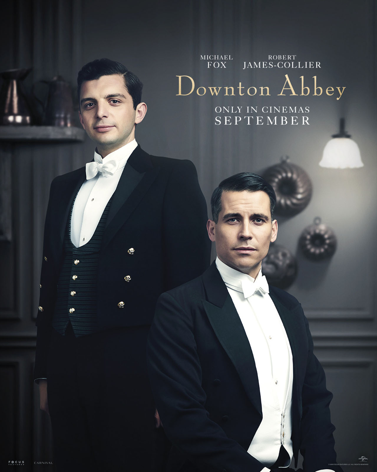 Downton Abbey The Movie Character Posters Andrew Parker and Thomas Barrow