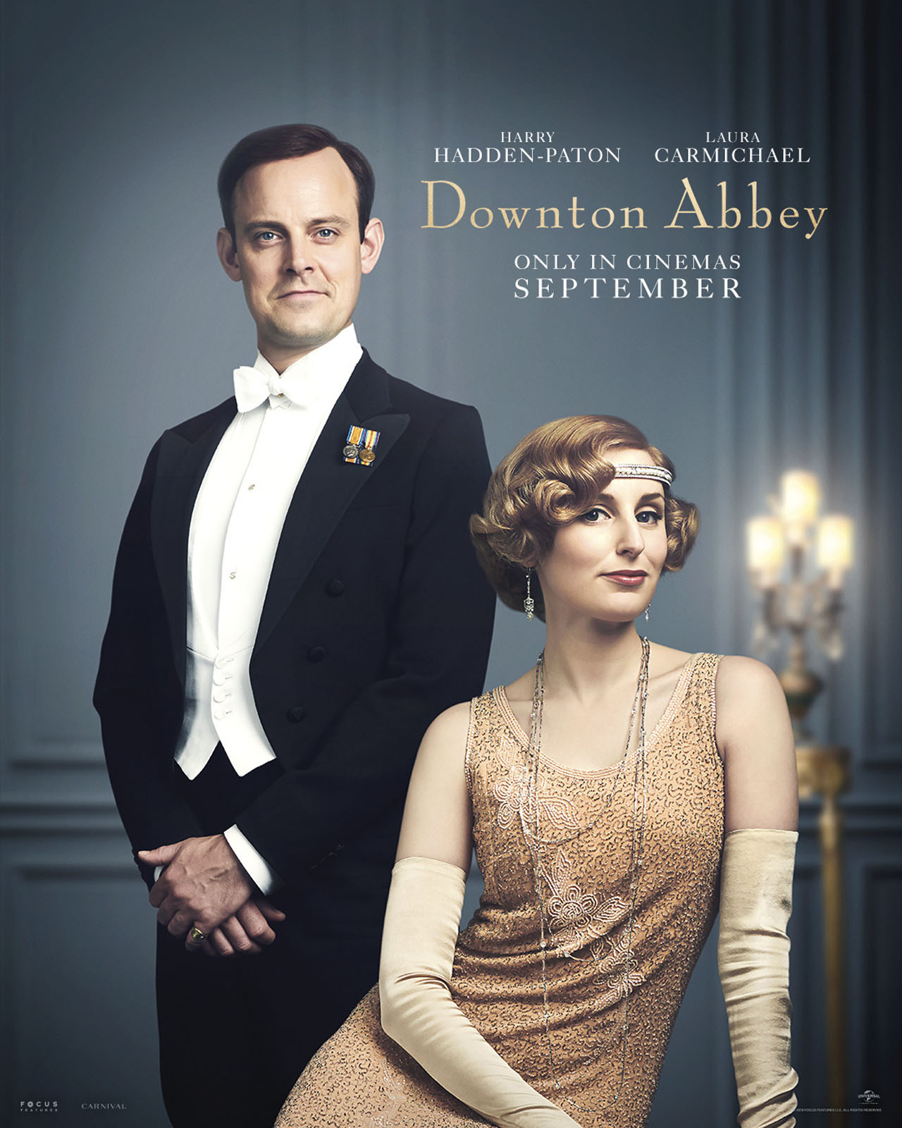 Downton Abbey The Movie Character Posters Herbert Pelham and Lady Edith Crawley
