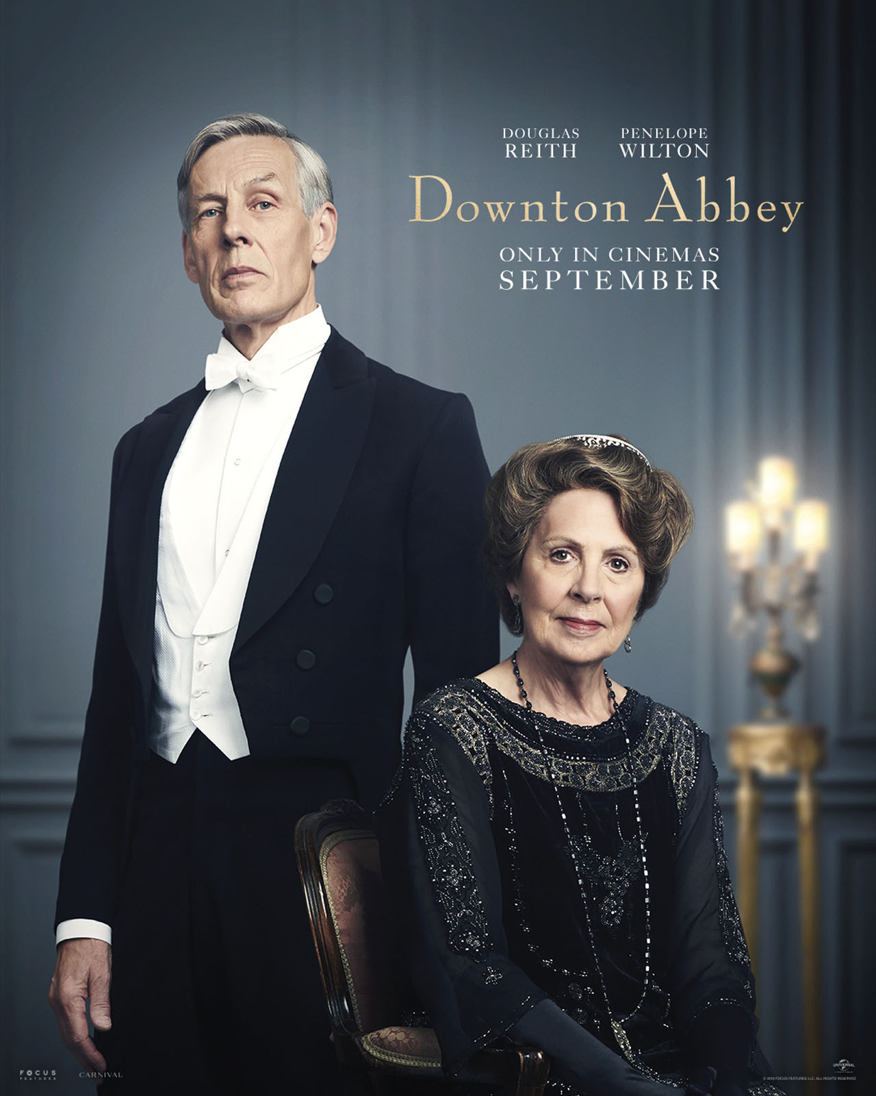 Downton Abbey The Movie Character Posters Lord Merton and Isobel Grey
