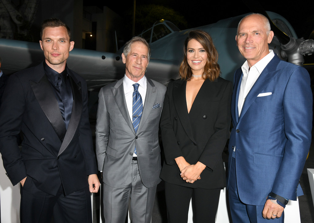 Ed Skrein, Jon Feltheimer, Mandy Moore Midway Hollywood Premiere Los Angeles
