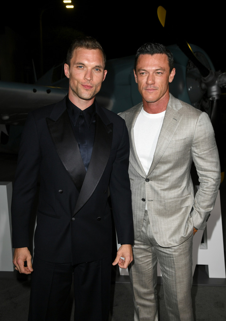 Ed Skrein and Luke Evans Midway Hollywood Premiere Los Angeles