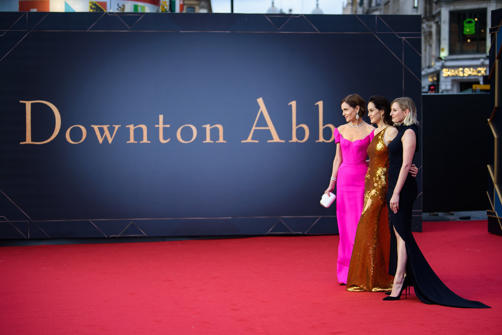Elizabeth McGovern, Michelle Dockery and Laura Carmichael Downton Abbey World Premiere London Arrivals