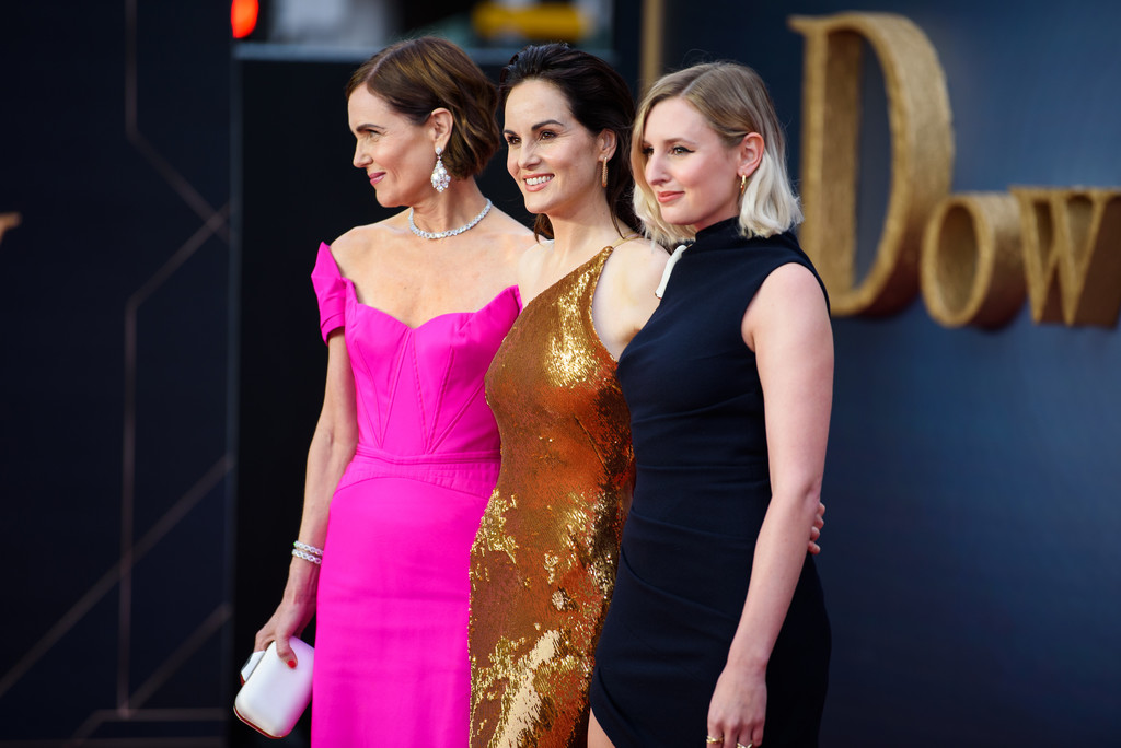 Elizabeth McGovern, Michelle Dockery and Laura Carmichael Downton Abbey World Premiere London