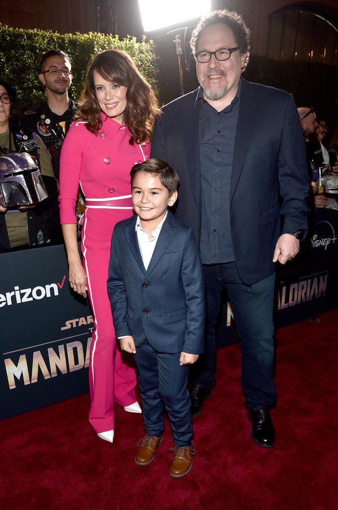 Emily Swallow, Aidan Bertola and Jon Favreau The Mandalorian Disney+ World Premiere Hollywood Los Angeles