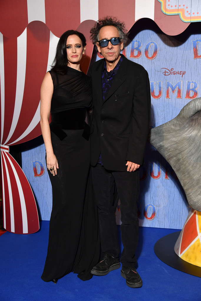 Eva Green and Tim Burton Disney Dumbo Paris Screening France