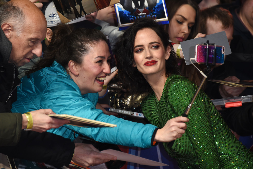 Eva Green greets fans Disney Dumbo European Premiere London