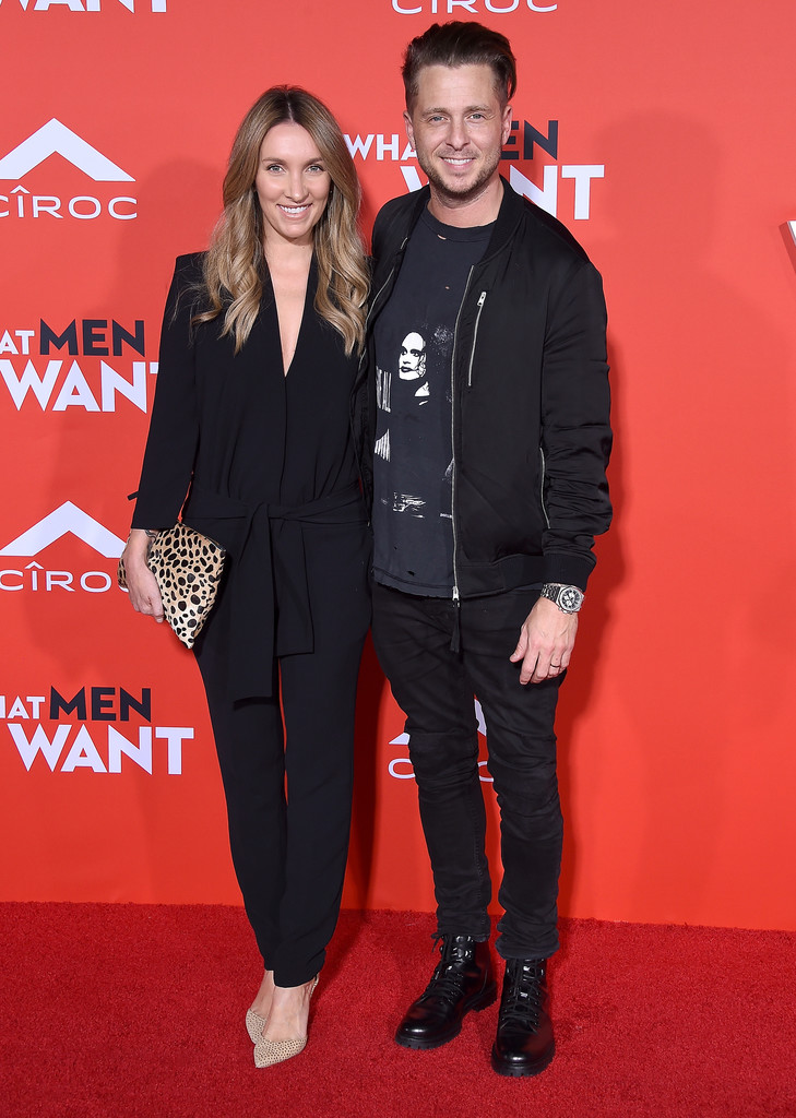 Genevieve and Ryan Tedder What Men Want Los Angeles Premiere Arrivals