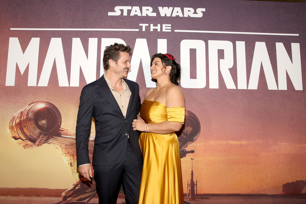 Pedro Pascal and Gina Carano The Mandalorian Disney+ World Premiere Hollywood Los Angeles