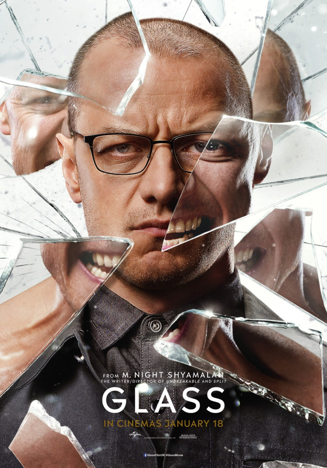 Glass Character Posters James McAvoy as Kevin Wendell Crumb : The Horde