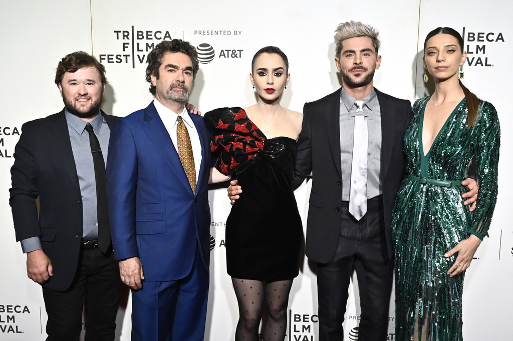 Haley Joel Osment, Joe Berlinger, Lily Collins, Zac Efron and Angela Sarafyan Extremely Wicked Shockingly Evil and Vile Tribeca Film Festival Premiere New York City
