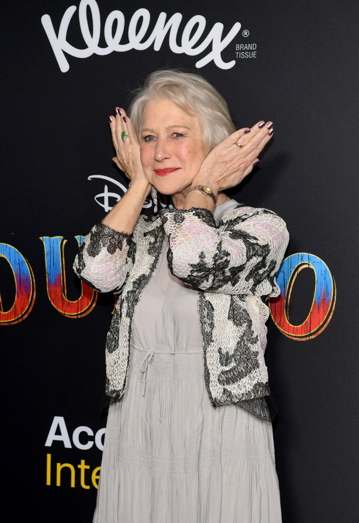 Helen Mirren Disney Dumbo Los Angeles Premiere