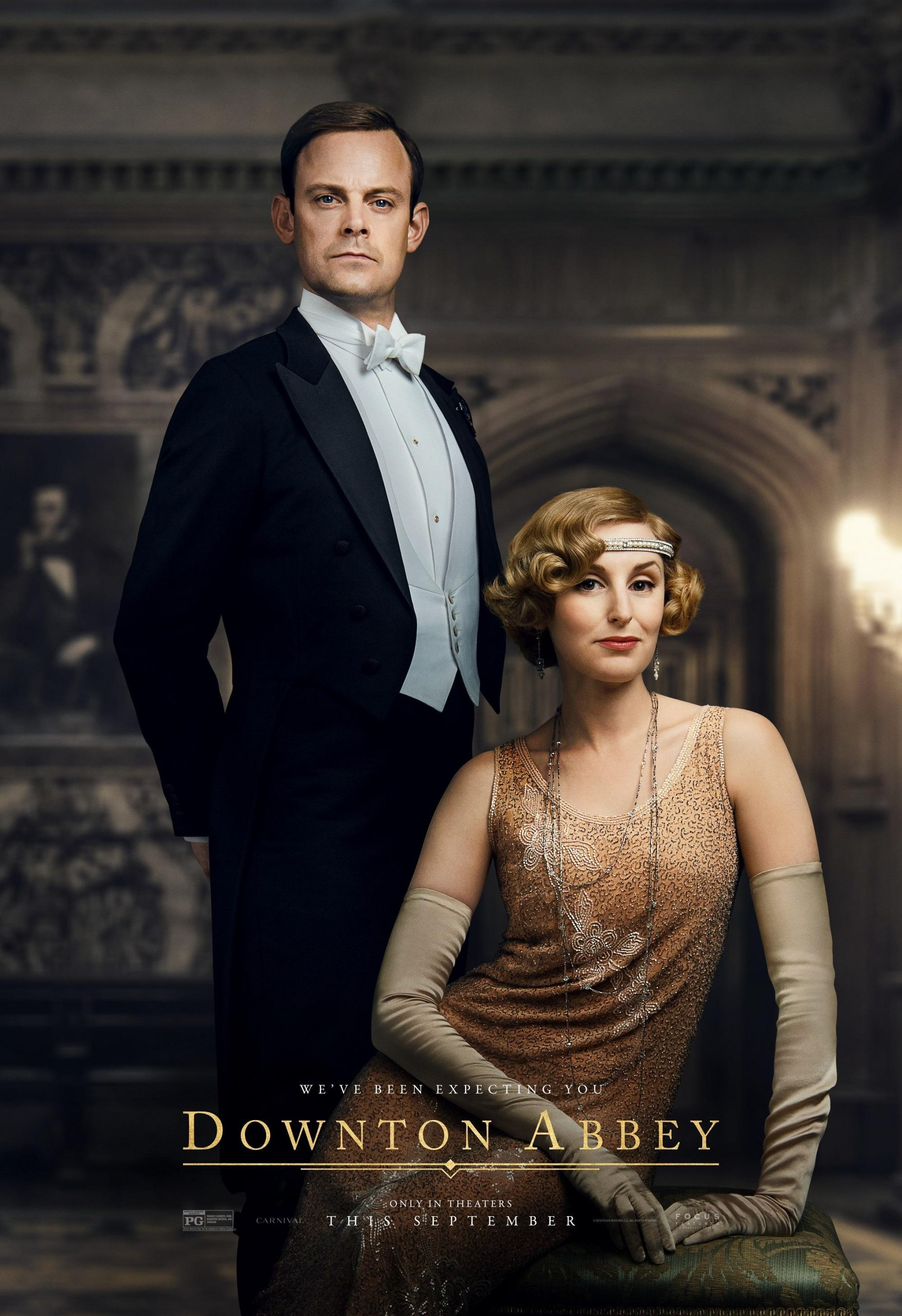 Herbert Pelham and Lady Edith Crawley Downton Abbey The Movie Character Posters