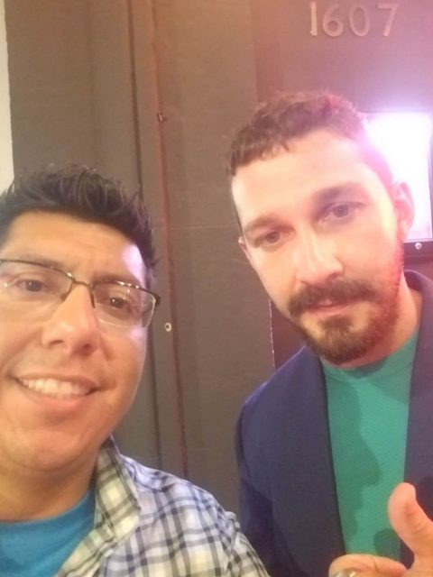 Ivan Ramirez with Shia LaBeouf at the The Peanut Butter Falcon premiere in Hollywood