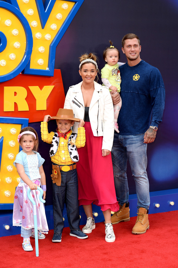 Jacqueline Jossa and Dan Osborne and family Toy Story 4 London Premiere