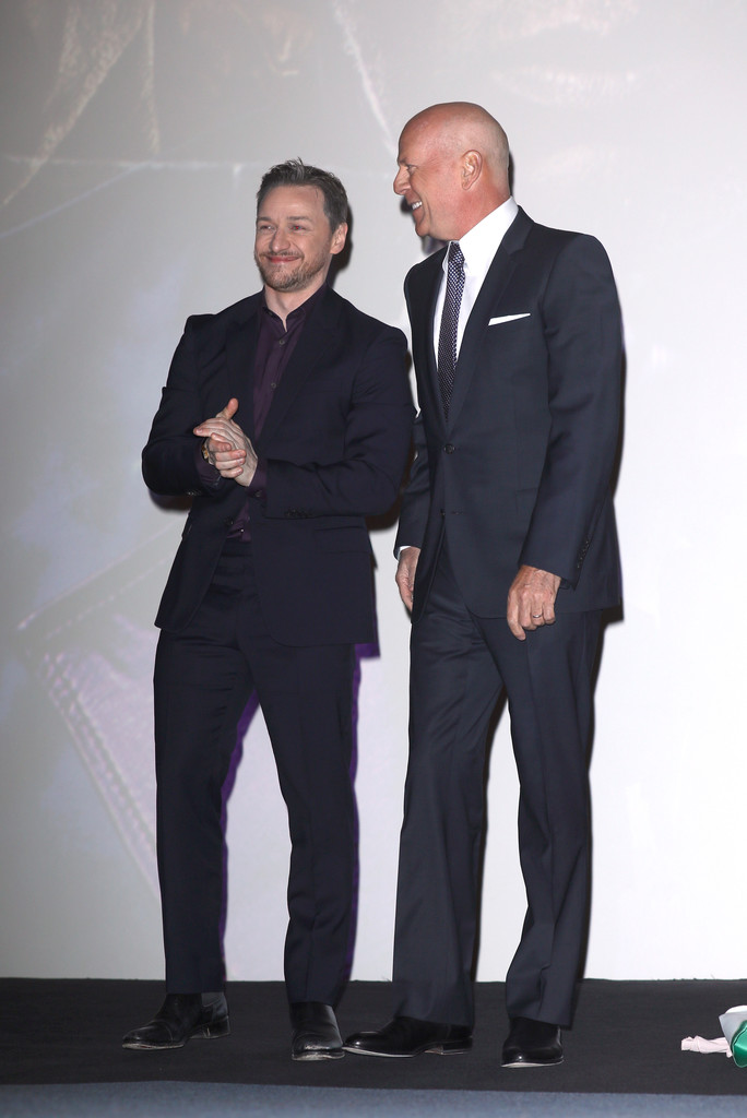 James McAvoy and Bruce Willis Glass UK Premiere London Arrivals