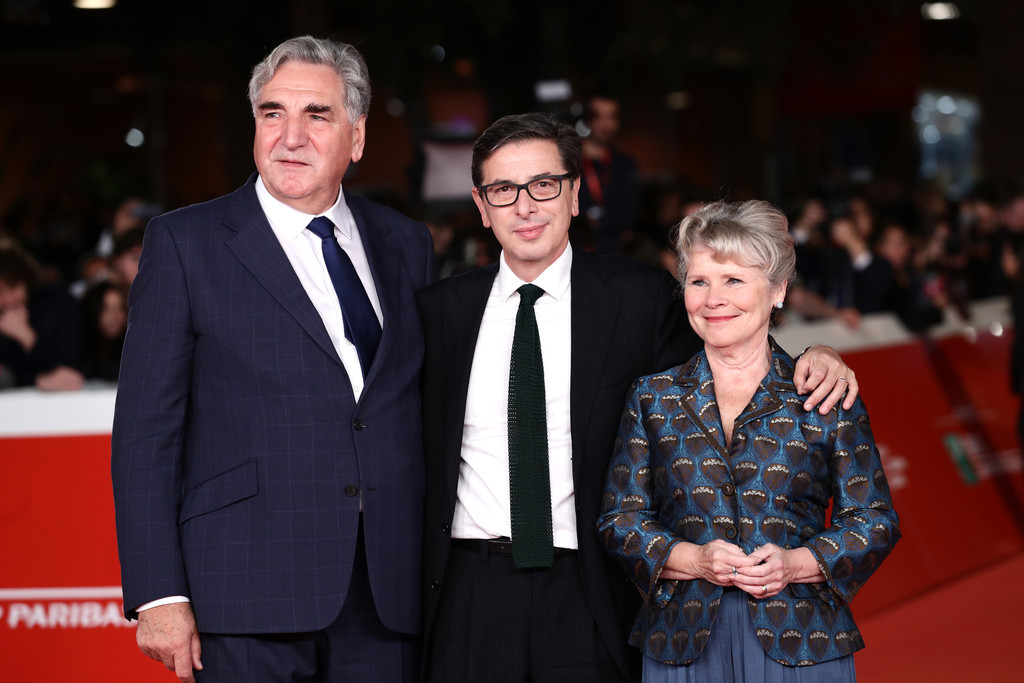 Jim Carter, Antonio Monda and Imelda Staunton Downton Abbey Rome Premiere 14th Rome Film Festival 2019 Arrivals