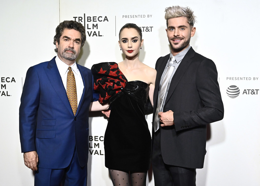 Joe Berlinger, Lily Collins and Zac Efron Extremely Wicked Shockingly Evil and Vile Tribeca Film Festival Premiere New York City