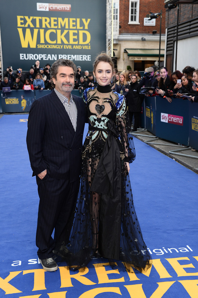 Joe Berlinger and Lily Collins Extremely Wicked Shockingly Evil and Vile European Premiere London