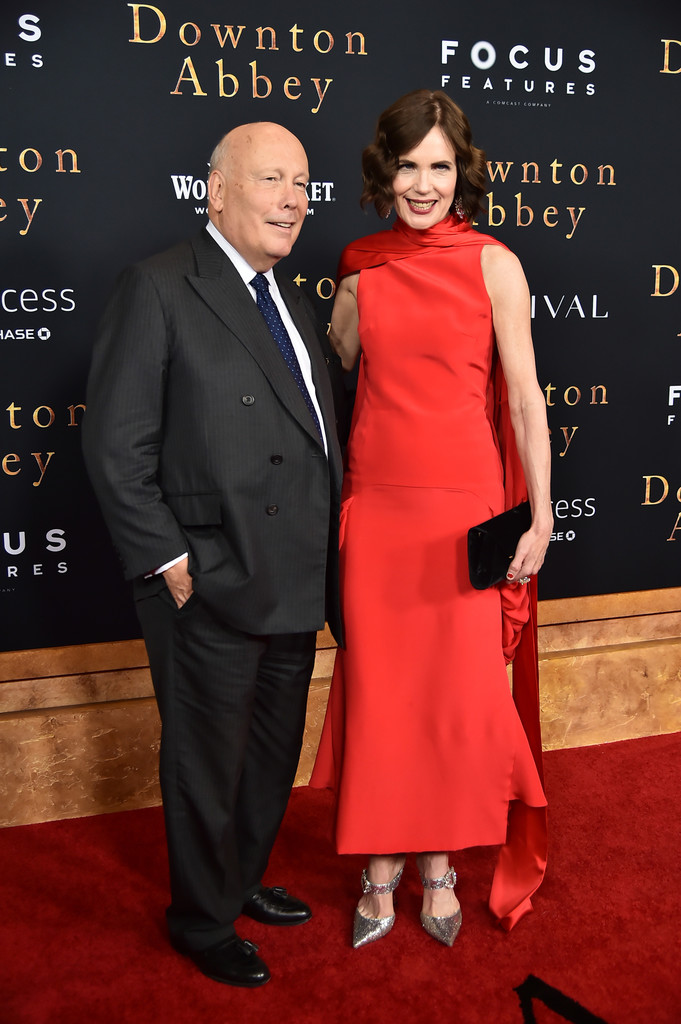 Julian Fellowes and Elizabeth McGovern Downton Abbey New York City Premiere