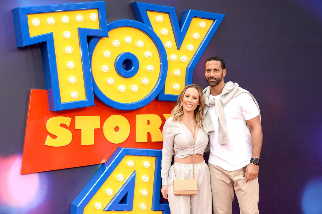 Kate Wright and Rio Ferdinand Toy Story 4 London Premiere