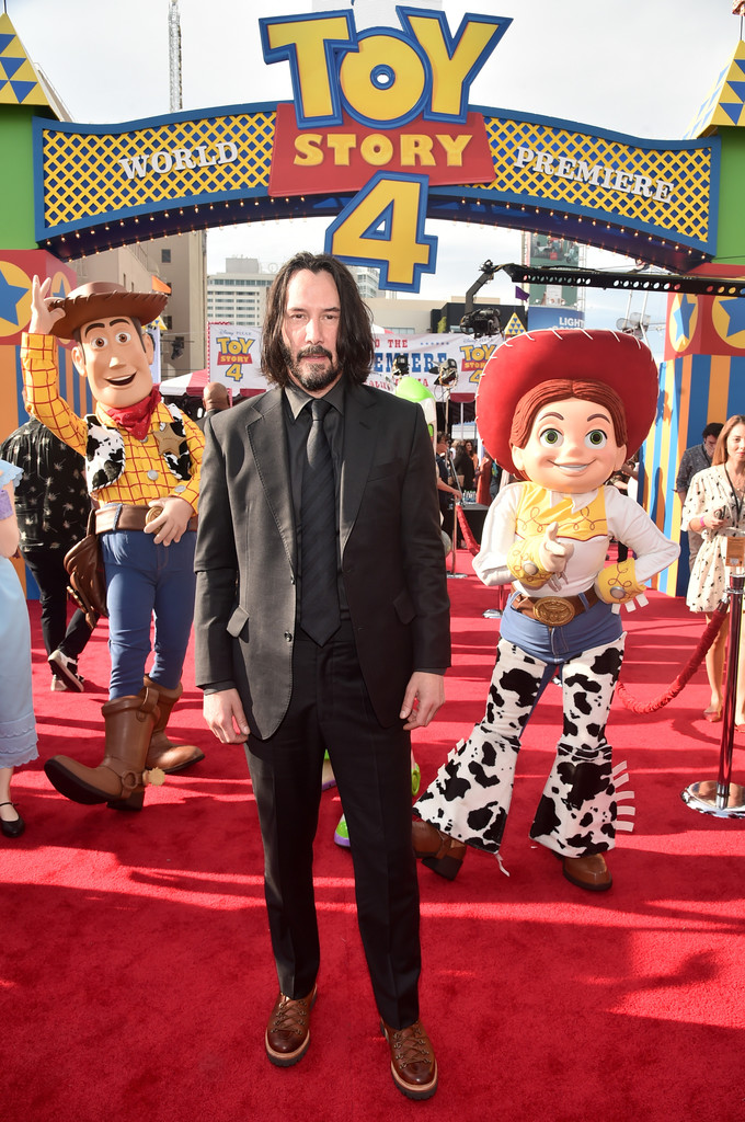 Keanu Reeves Toy Story 4 Los Angeles Premiere Hollywood