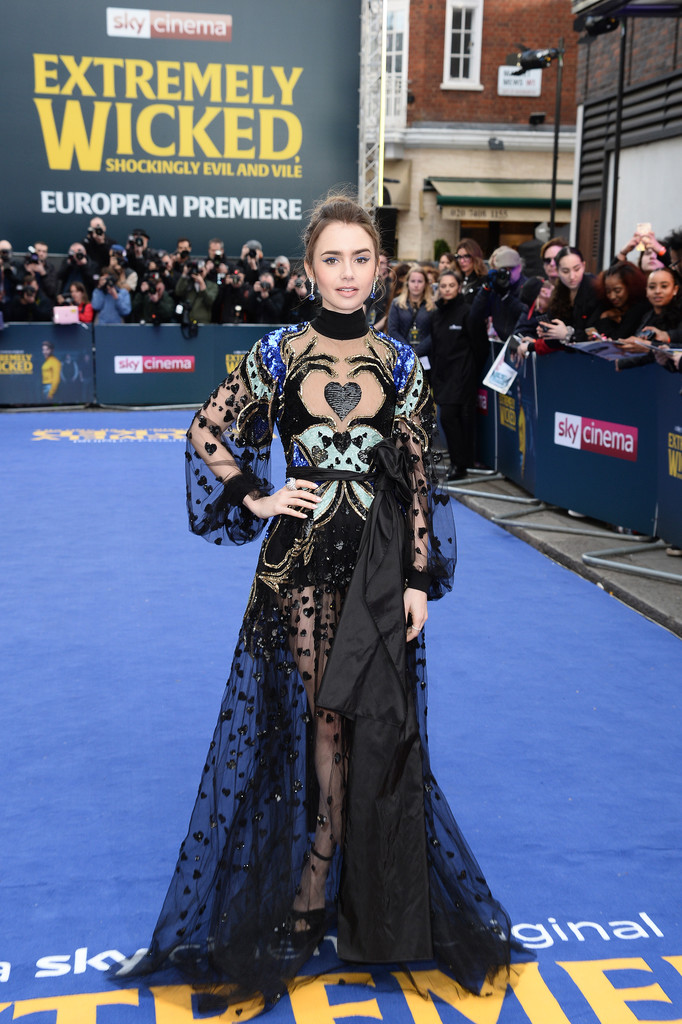 Lily Collins Extremely Wicked Shockingly Evil and Vile European Premiere London