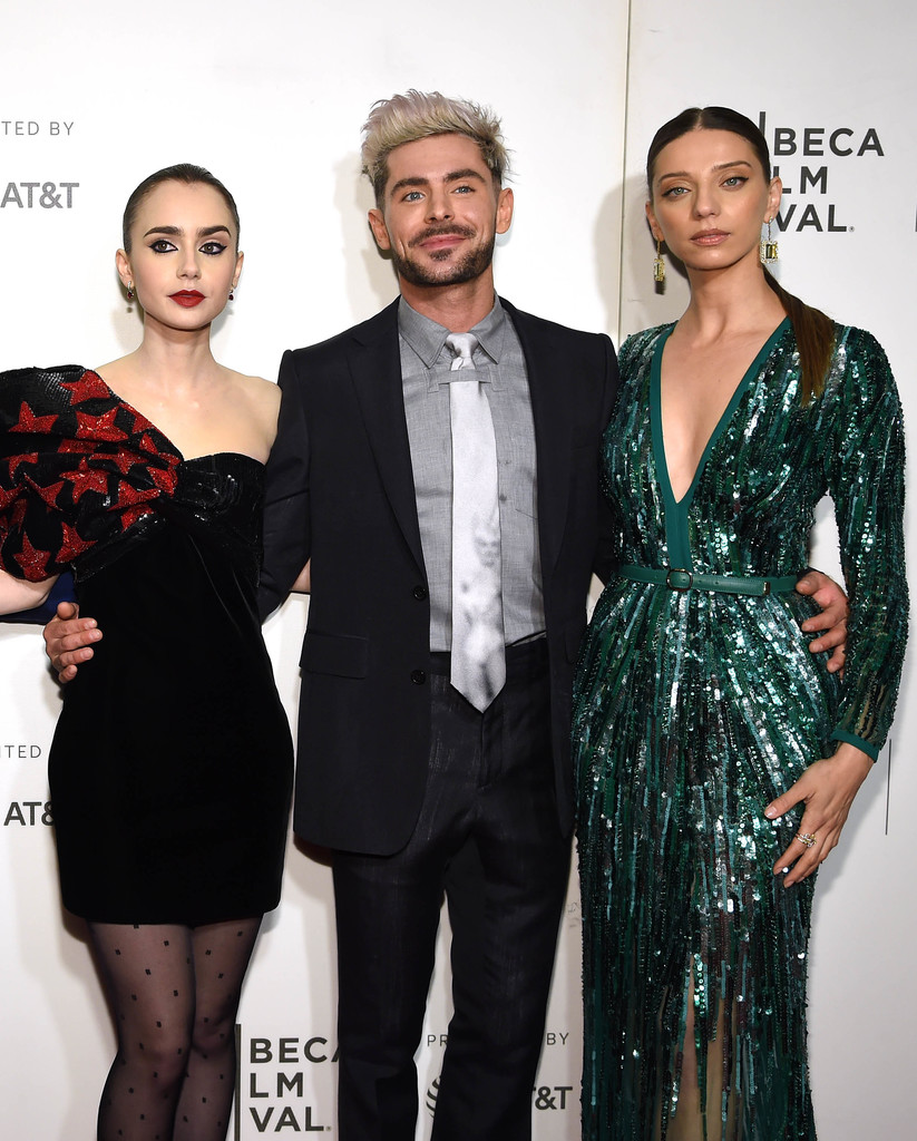 Lily Collins, Zac Efron and Angela Sarafyan Extremely Wicked Shockingly Evil and Vile Tribeca Film Festival Premiere New York City