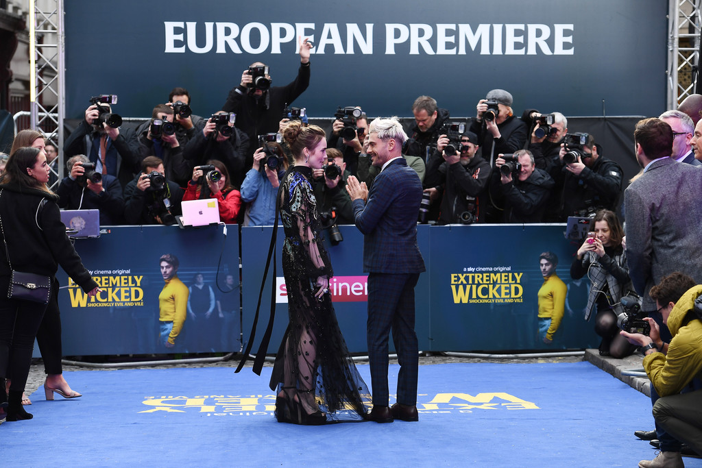Lily Collins and Zac Efron Extremely Wicked Shockingly Evil and Vile European Premiere London