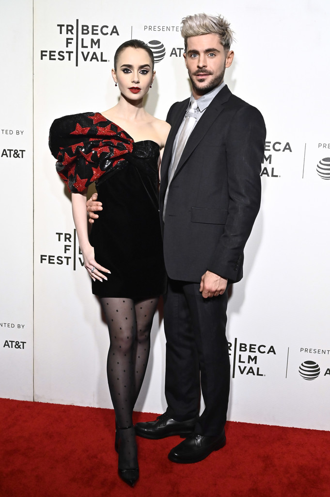 Lily Collins and Zac Efron Extremely Wicked Shockingly Evil and Vile Tribeca Film Festival Premiere New York City