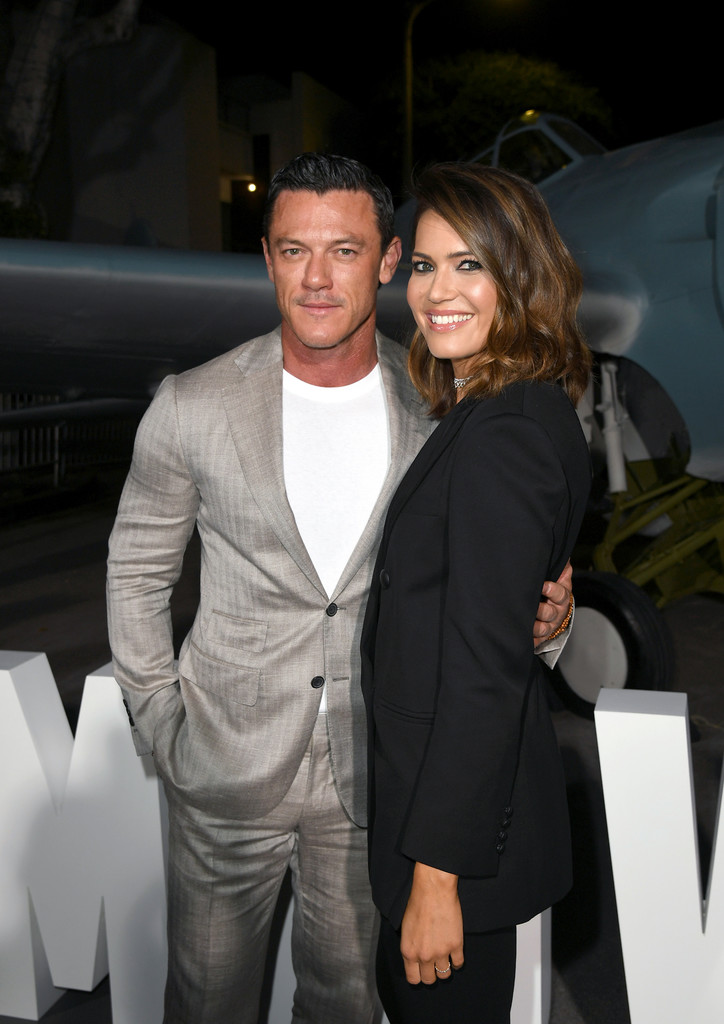 Luke Evans and Mandy Moore Midway Hollywood Premiere Los Angeles
