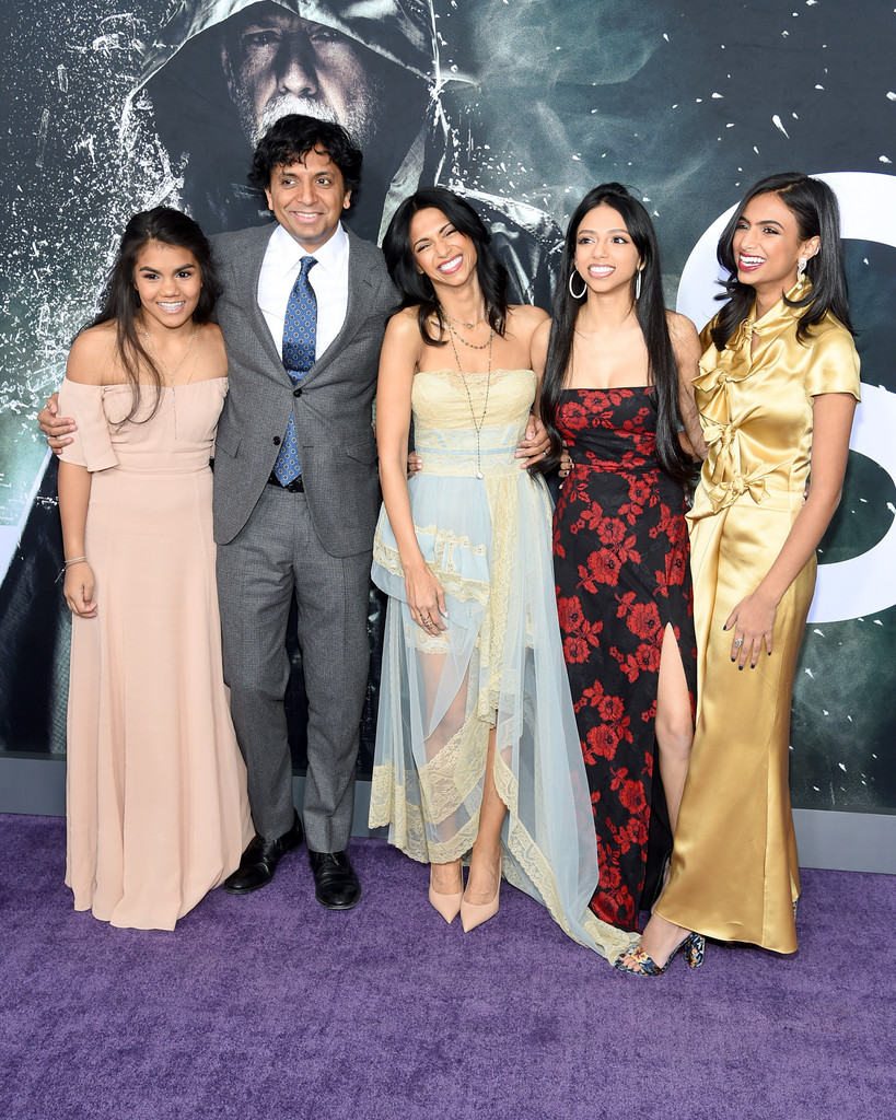 M. Night Shyamalan and family Glass New York City Premiere Arrivals